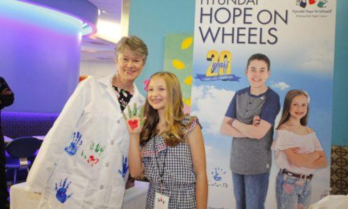 The 2018 Hyundai Hope On Wheels Handprint Ceremony In Phoenix